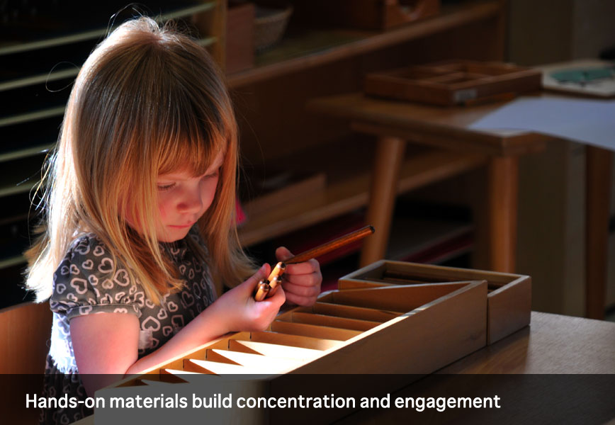 Hands-on materials build concentration and engagement at Montessori School of Syracuse