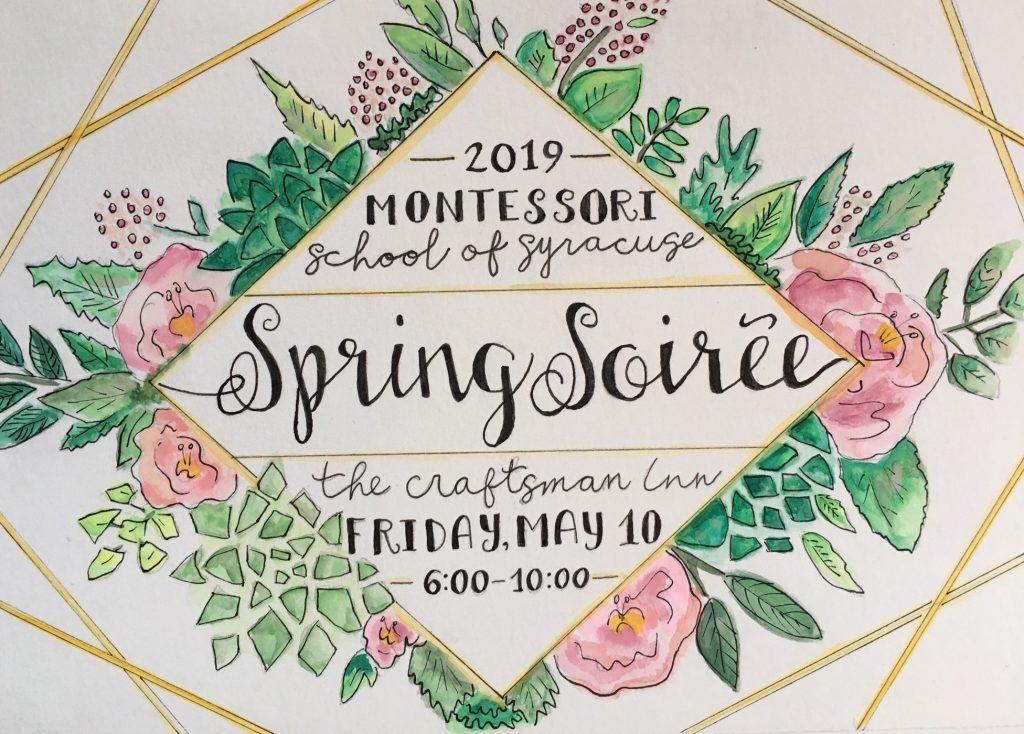 Spring soiree invitation